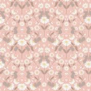 Lewis & Irene - Love Me Love Me Not - 5850 - Stylised Mice & Daisies, Pink - A273.3 - Cotton Fabric